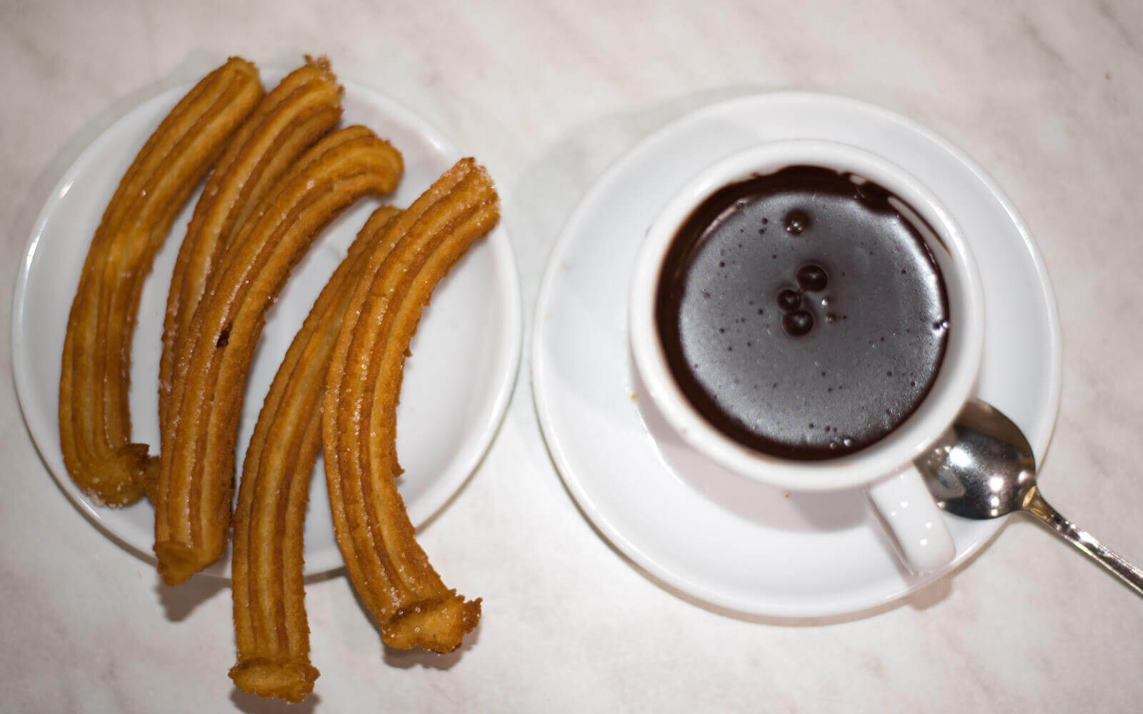 churros with chocolate in barcelona