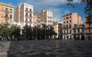 the view of placa del sol in gracia barcelona