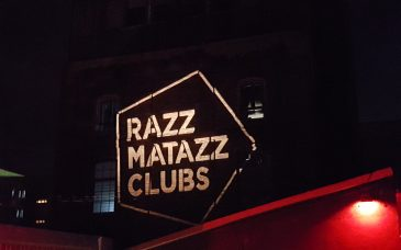razzmatazz barcelona club wall outside