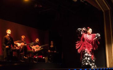 a woman dances at a flamenco performance in barcelona