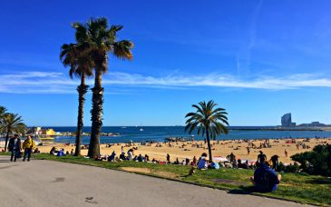 september weather in barcelona beach