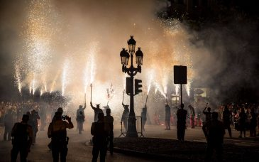 correfoc participants in barcelona events