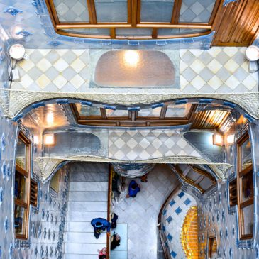 Visit the amazing interior patio of Casa Batlló