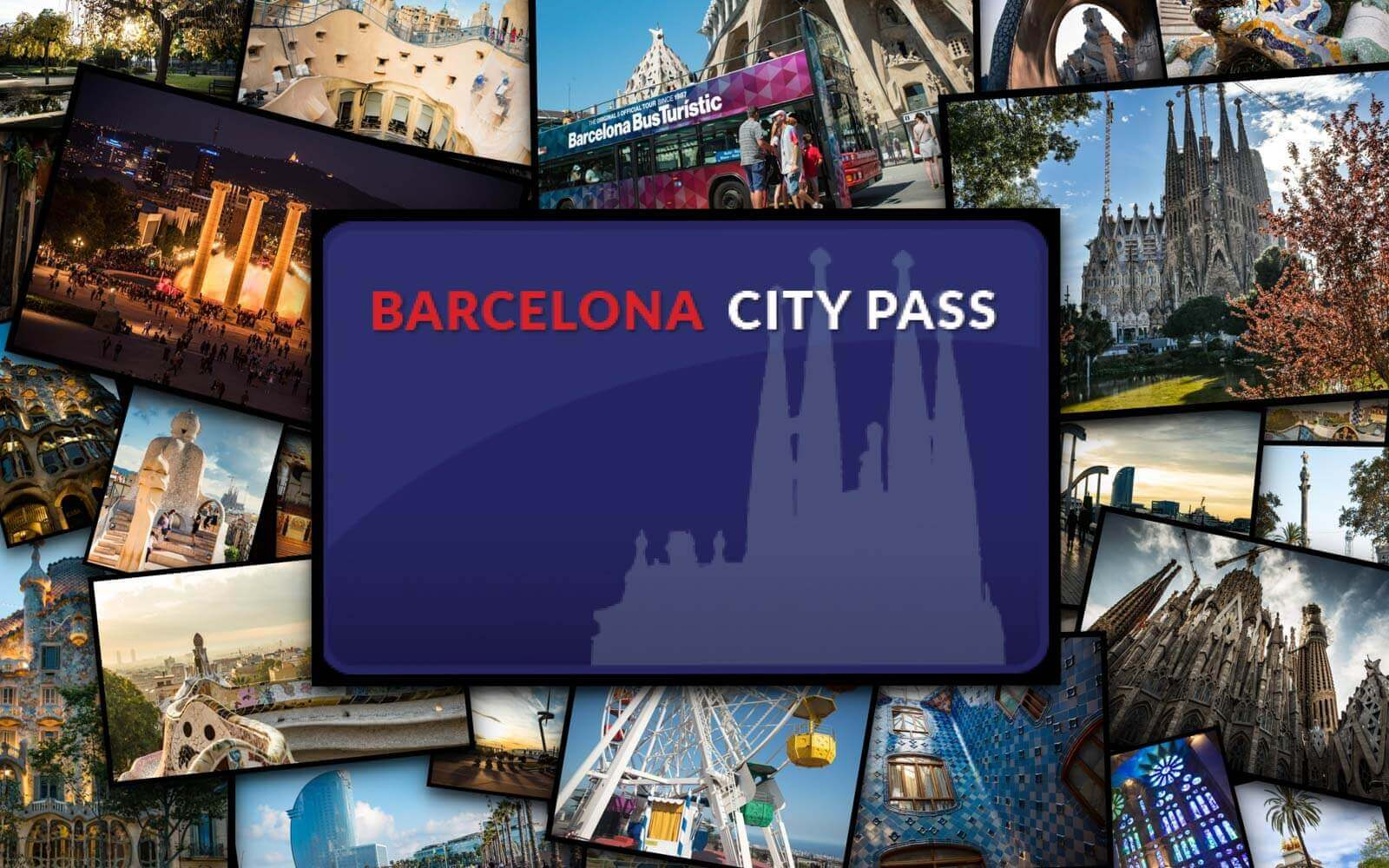 a picture of all the attractions included or with a 20% discount using the online city pass barcelona discount card