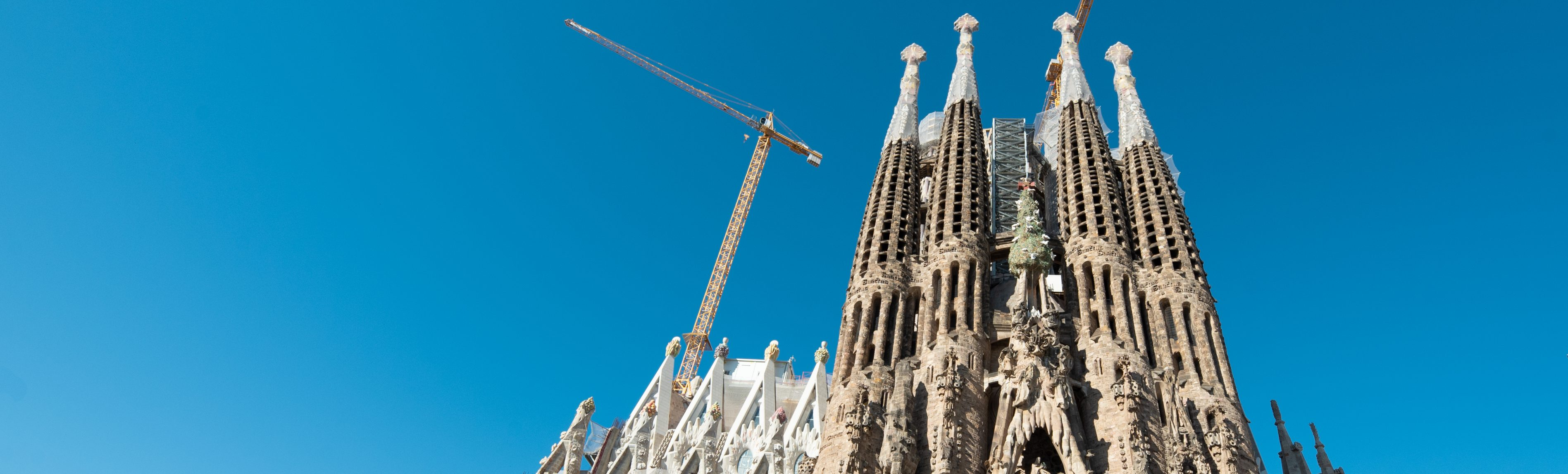 sagrada familia passion façade under construction