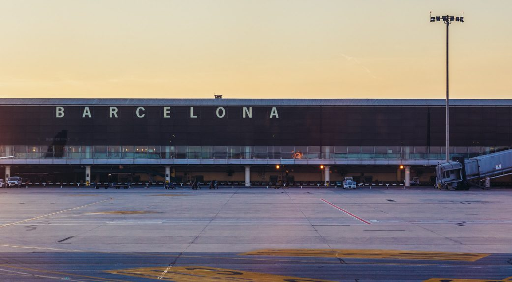 the terminal of barcelona el prat airport